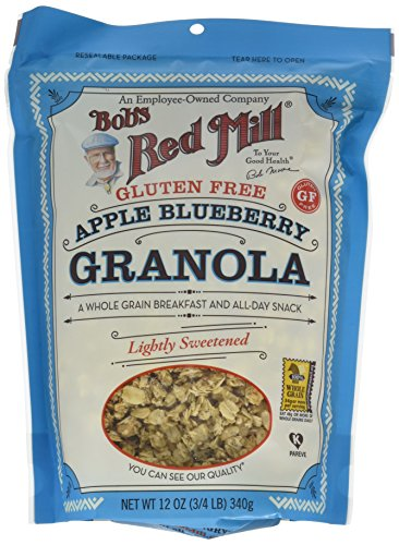 - Bob's Red Mill Gluten Free Apple Blueberry Granola, 12-ounce (Pack of 4)