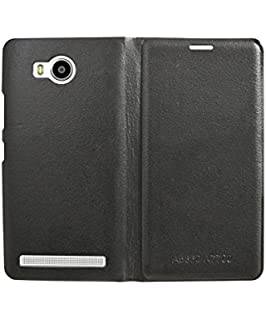 the best attitude 24f85 eed0d ELICA Leather Wallet Flip Cover for Lenovo A7700: Amazon.in: Electronics