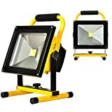 KAWELL 30W Outdoor Floodlight Camping Lights Portable LED Work Lights, Built-in Rechargeable Lithium Batteries, Waterproof PI65, 800Lumens, Daylight White 6000K, 2 Years Warranty