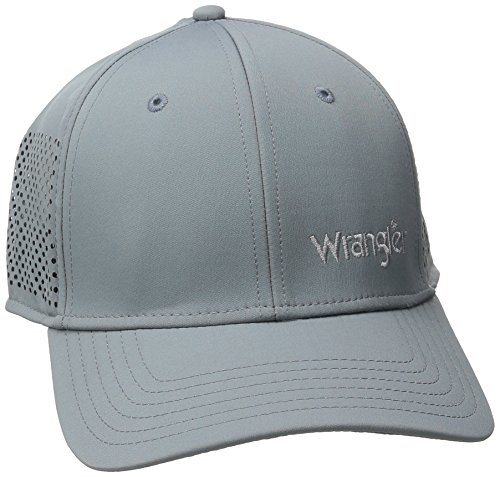 Wrangler Men's Baseball A-Flex Stretch Fit Cap, Grey, (Stretch Fit Baseball Cap)