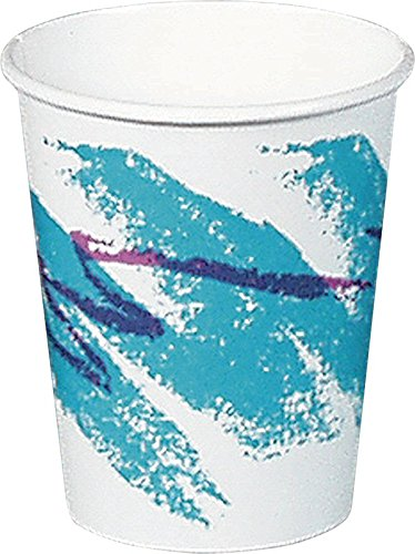 SOLO 378JZ-00055 Single-Sided Poly Paper Hot Cup, 8 oz. Capacity, Jazz (Case of 1,000)