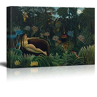 Unbelievable Technique, The Dream by Henri Rousseau Print Famous Painting Reproduction, Top Quality Design