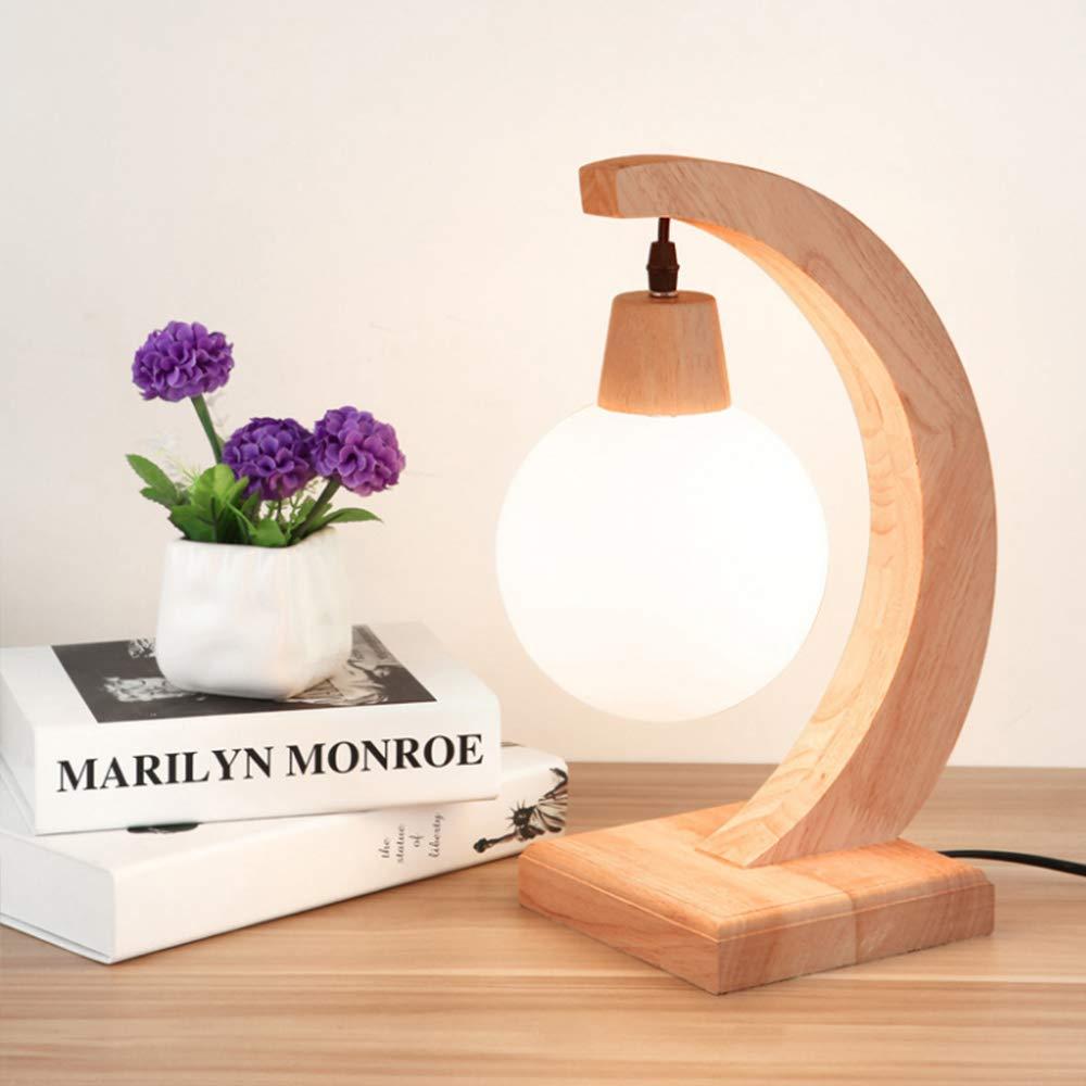 E27 Lampe de table LED Lampe de Bureau Design Original Lampe en Bois Architecte Luminaire bois Lampe de Table D/écoration Lampe de Table Industrielle /à Poser Lampe de chevet Lampes de lecture