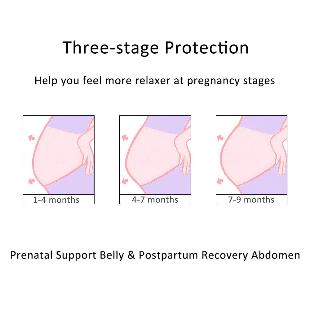 BOZEVON 3 en 1 Faja Embarazada Prenatal - Elástico y Cómodo ...
