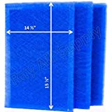MicroPower Guard Replacement Filter Pads 16x18 Refills (3 Pack) BLUE