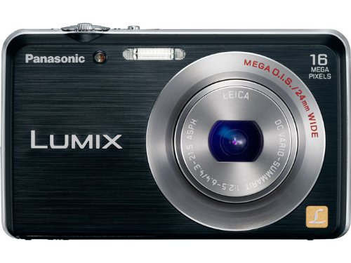 Panasonic Lumix DMC FH-8 16.1 MP Digital Camera with 5x Wide Angle Optical Image Stabilized Zoom (Black) For Sale