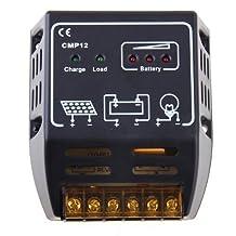SODIAL(R) 10A 12V/24V Solar Charge Controller Solar Panel Battery Regulator Safe Protection