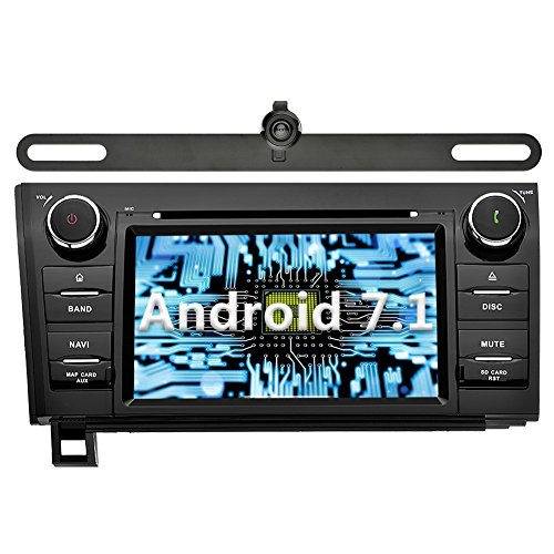 YINUO Android 7.1 Double Din Car Stereo 7 Inch Touch Screen DVD Player In Dash Sat Nav Head Unit GPS Navigation for Toyota Tundra(2007-2013),Toyota Sequoia(2008-2015),Included Camera 2