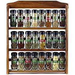 McCormick Gourmet Wood Spice Rack (24 assorted herbs & spices)