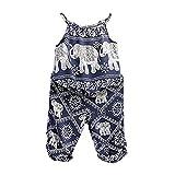 Amazon Price History for:BiggerStore 2Pcs/Set Kids Baby Girls Jumpsuit Romper, Elephant Straps Tops+Harem Pants Outfit