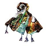 Spbamboo Womens Scarf Print Casual Long Gauze Holiday Silk Towel Beach Shawl