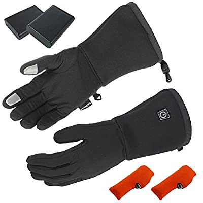 ActiVHeat Touchscreen Cordless Heated Glove Liners w/ Rechargeable Battery- ALL SIZES