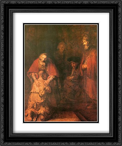 Return of The Prodigal Son 2X Matted 15x18 Black Ornate Framed Art Print by Rembrandt]()