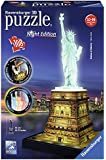 Ravensburger Italy 12596 - Puzzle 3D Building Night Edition Statua della Libertà New York