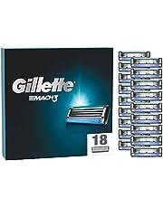 Gillette Mach3 ostrza do golenia, 18 wymiennych ostrzy do golenia na mokro dla mężczyzn z potrójnym ostrzem