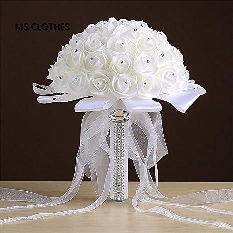 Amazoncom Qihorrtm Ivory Rose Et Blanc Crystal Bridal
