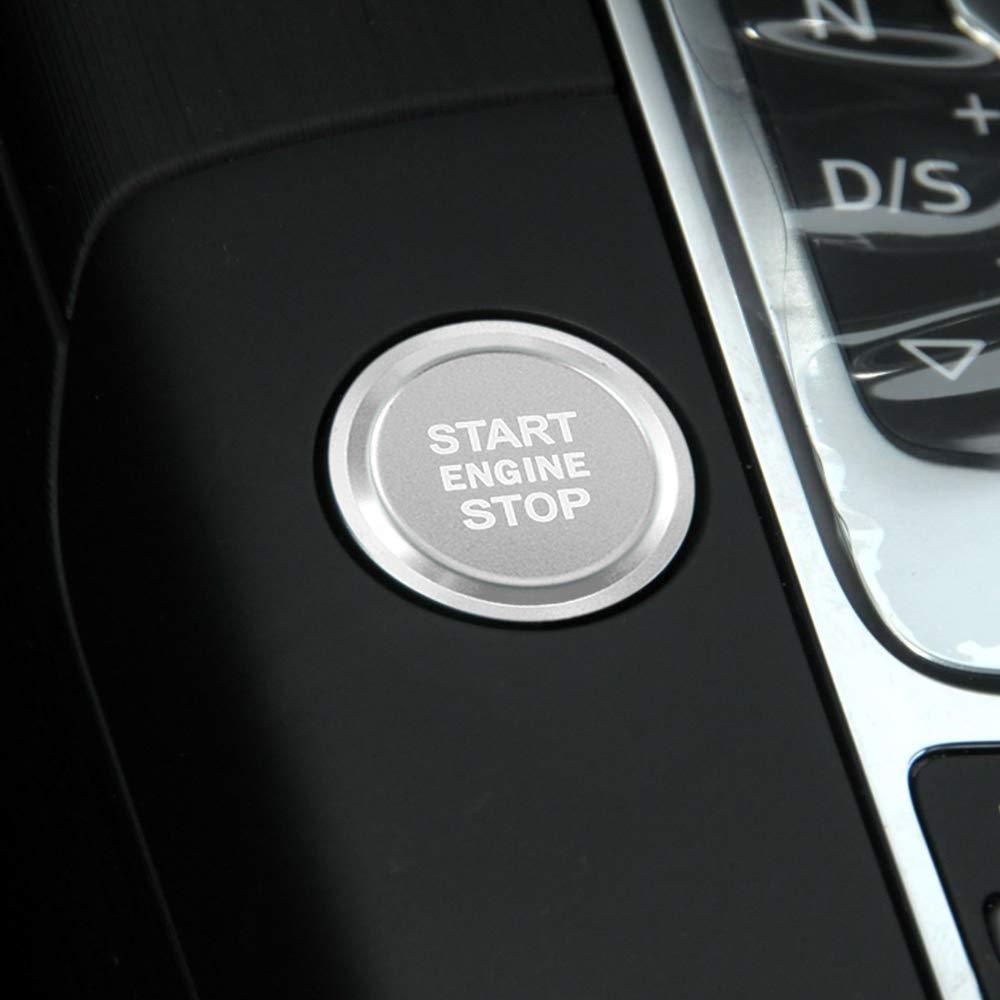 Rot LITTOU Auto Start-Stopp-Schalter Knopf Abdeckung Z/ündschalter Druckknopf Ring Kompatibel f/ür A3 A4 A5 A6 A7 A8 Q3 Q5 Q7