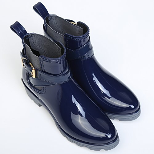 Bloc Chelsea Boots Pluie Imperm Cheville Bottines Bottine Rainboots De Bottes O6wqx06