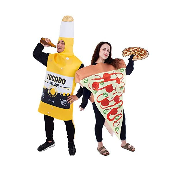 Halloween Pizza and Beer Couple Costume