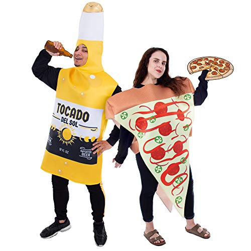 Sriracha Bottle Halloween Costume (Pizza Slice and Beer Bottle Couple's Halloween Costume | Funny)