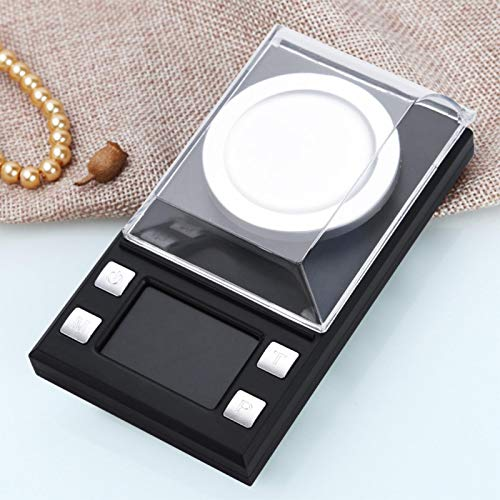 Digital Milligram Pocket Scales, 0.001g High Precision Electronic Weighing Scales for Jewelry Gold Coins Reload and Kitchen, with Tare Function (10g)