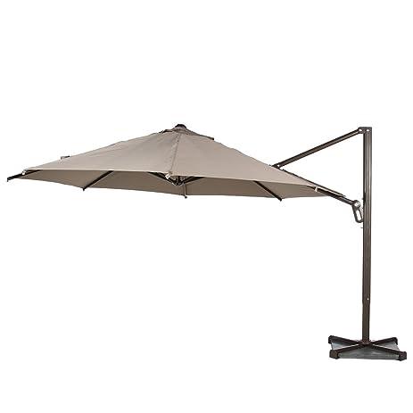 Abba Patio 11 Feet Cantilever Offset Patio Umbrella With Infinite Tilt  Position, Cross Base