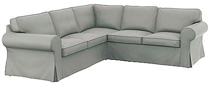 El grueso algodón Ikea Ektorp 2 sofá funda de recambio es fabricada a medida para IKEA EKTORP esquina o funda para sofá seccional