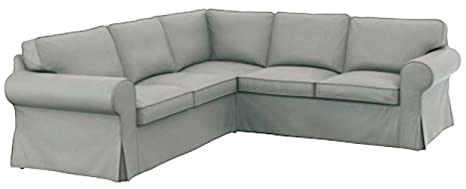 The Thick Cotton IKEA Ektorp 2 2 Sofa Cover Replacement is Custom Made for IKEA Ektorp Corner Or Sectional Sofa Slipcover (Lighter Dense Gray)