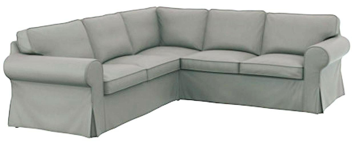 The Thick Cotton Ikea Ektorp 2 2 Sofa Cover Replacement Is Custom Made for Ikea Ektorp Corner Or Sectional Sofa Slipcover (Light grey)