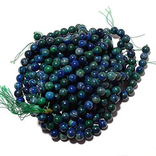 Azurite Beads, Lapis Chrysocolla, Natural Azurite Malachite, 10mm Round Beads, 14 Inch Strand by Gemswholesale