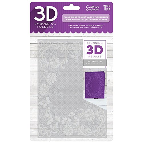 Crafter's Companion 5'' x 7'' 3D Card Embossing Folder - Flourishing Frame by Crafter's Companion
