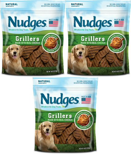 Nudges Tyson Pet Grillers Dog Treats Made with Real Chicken. Review