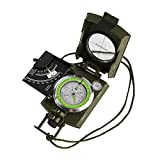 GWHOLE Compass Waterproof Hiking Military Navigation Compass with Pouch Lanyard, English User Guide Included