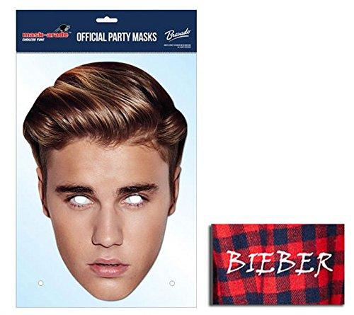 Justin Bieber berühmtheit Single Karte Partei Gesichtsmasken (Maske ...