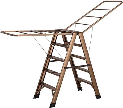 XF Escaleras extensibles Taburete con escalones - Escalera de aluminio Herramienta portátil Espiga Pedal deslizante Taburete largo para el hogar Taburete antideslizante Escalera multifunción plegable: Amazon.es: Bricolaje y herramientas