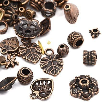 30 Grams Red Copper Tibetan Random Shapes /& Sizes Mixed Charms Charming Beads HA13170