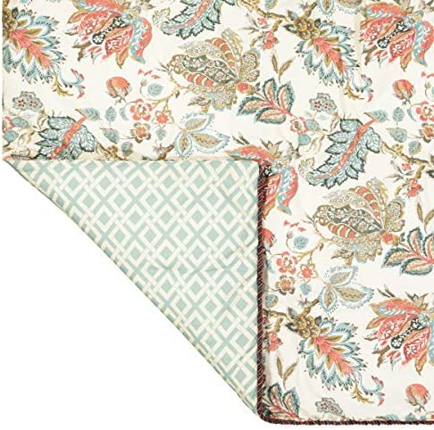 WAVERLY Brompton-Rod Pocket Curtains for Living Room, Double Panel, 100 x 84 , Mineral