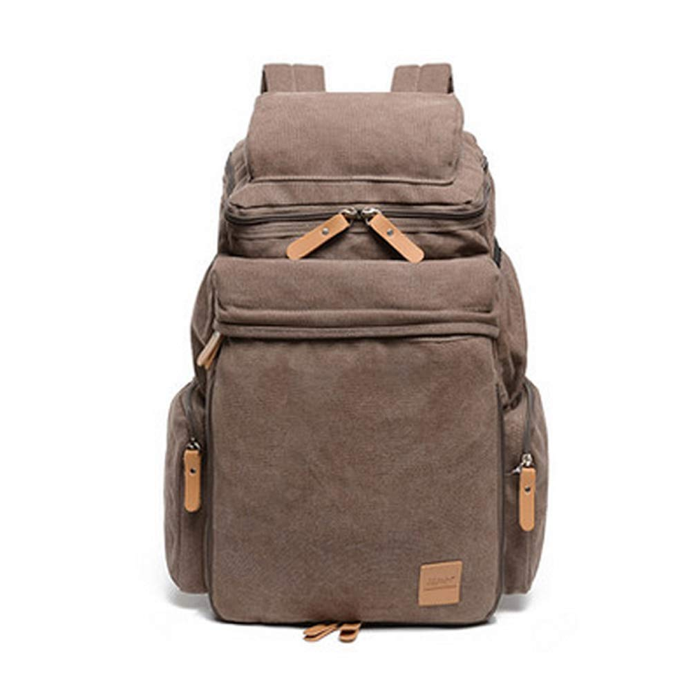 Brown High 58cm WAIXKAY Multicolor Laptop Backpack Large Computer Backpack School Travel Backpack Casual Daypack for Business College Women Men (color   Khaki, Size   High 58cm)