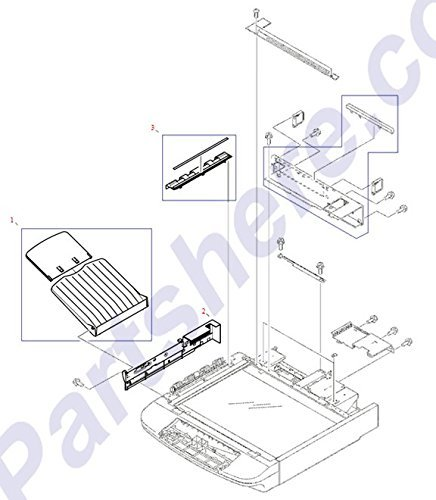 Hp Output Tray - HP RG5-6316-000CN ADF Output tray - Tray with extension on left side of