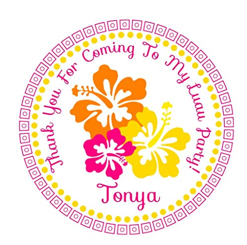 Luau Birthday Stickers, Luau Party Supplies, Luau Party Decorations, Luau Party Favors, Luau Stickers, Luau Party Ideas -
