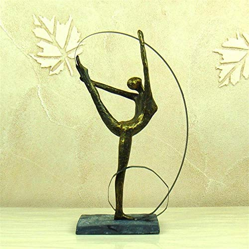 (DAJIADS Figurine Figurines Statue Statues Statuette Abstract Female Gymnast Statuette Resin Artistic Calisthenics Sculpture Iron Art Sport Award Decor Souvenir Gift Craft Adornment)