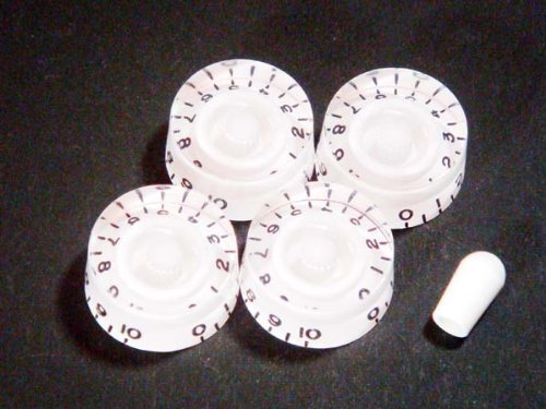 MIJ Speed Knobs and Toggle Knob Set Embossed (Metric) white fa-espd5mm-wht