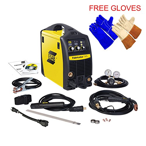 Tig Glove Welder Mig (Esab Fabricator 141i MIG, Stick, TIG (w/option) Welding Machine, FREE pair of Tig and Welding Glove)