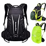 VERTAST 20L Lightweight Cycling Backpack Hydration Pack Waterproof Hiking Climbing Rucksack with Rain Cover, Black