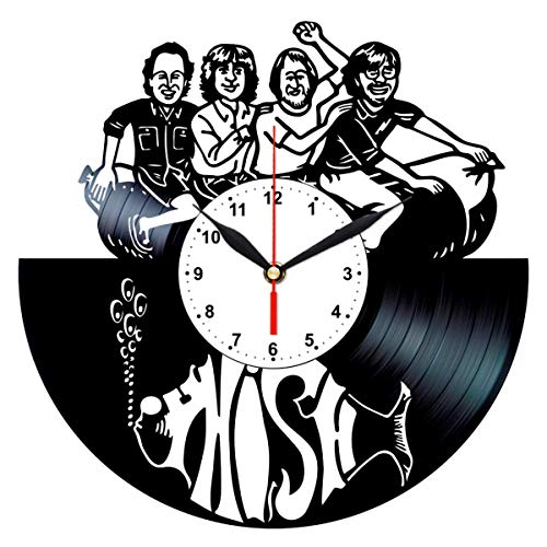 - Phish Vinyl Clock - Record Wall Art Home Decor - Rock Band Themed Gifts for Men