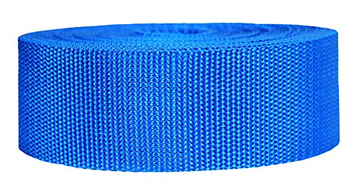 Strapworks Heavyweight Polypropylene Webbing - Heavy Duty Poly Strapping for Outdoor DIY Gear Repair, 2 Inch x 10 Yards - Pacific Blue ()