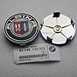"Hanway new 4 BMW Alpina Wheel Center Caps, Badge, E36 E39 E46 E60 E90 M3 Emblem 68mm caps 2.677"" emblem"