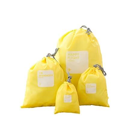 Pengyu Bolsas de almacenamiento impermeables para ropa interior de viaje, cosméticos, con cordón,