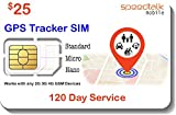 $25 GSM SIM Card for GPS Trackers - Pet Kid Senior Vehicle Tracking Devices - 120 Day...