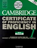 Cambridge Certificate of Proficiency in English 1 Self Study Pack, University of Cambridge Local Examinations Syndicate Staff, 0521009928
